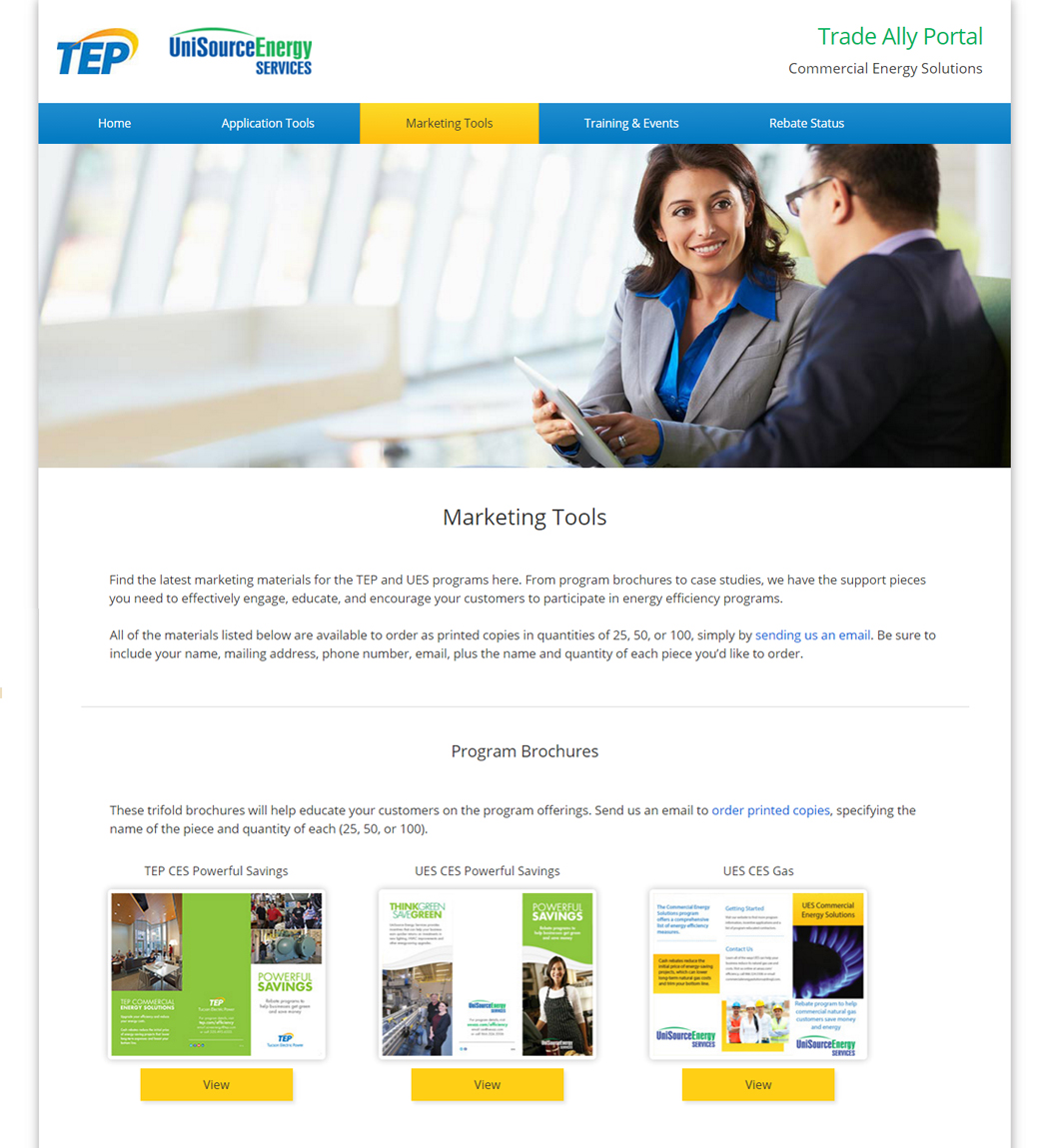 TEP Trade Ally site